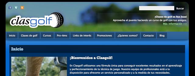 Diseño y programación de www.clasgolf.com y www.clasesdegolfbarcelona.com