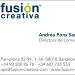 Rediseño Imagen Corporativa | Fusión Creativa - tarjeta