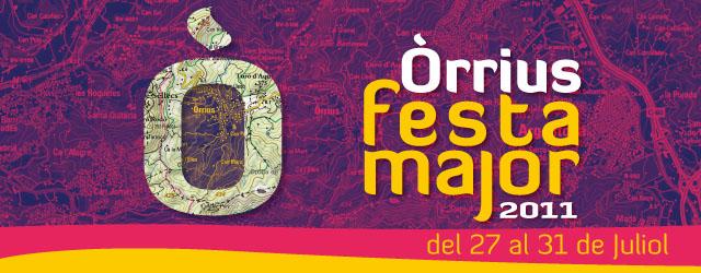 Una vez más, este año hemos realizado la gráfica para la Festa Major de Òrrius. Cartel Programa Camiseta