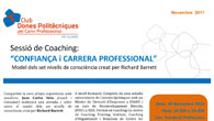 Diseo del programa para la &#8216;Sessi de Coaching: &#8216;Confiana i carrera professional&#8217;&#8221; organizado por el Club Dones Politcniques pel Canvi Professional, organizacin con la que Fusin Creativa colabora.