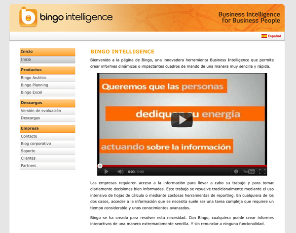Bingo Intelligence web - Business Intelligence